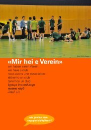 «Mir hei e Verein» - Begegnungstag
