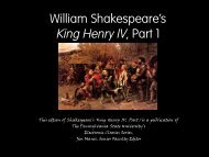 Henry IV, Part I - richard lw clarke homepage