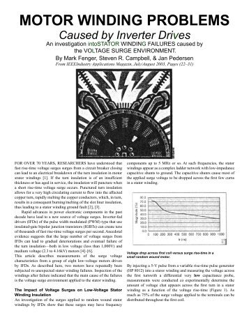 MOTOR WINDING PROBLEMS - Iris Power Engineering
