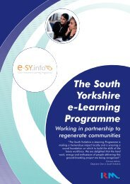 The South Yorkshire e-Learning Programme - RM.com