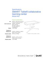 SMART Table 442i collaborative learning center ... - Intervideo srl
