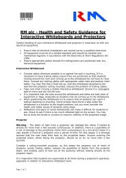 Health and Safety Guidance for Interactive Whiteboards ... - RM.com