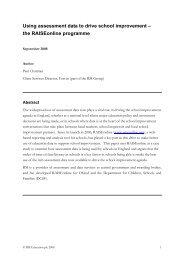 Using assessment data to drive school improvement – the ... - RM.com
