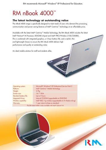 RM nBook 4000 insert - RM plc