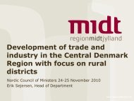 Development of trade and industry in the Central Denmark Region ...