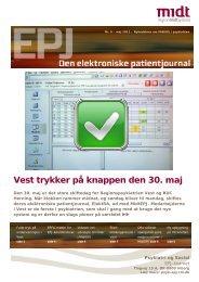 Vest trykker på knappen den 30. maj - Region Midtjylland