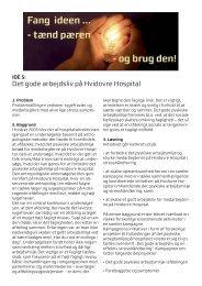 Det gode arbejdsliv på Hvidovre Hospital