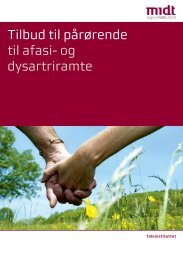 Tilbud til pårørende til afasi- og dysartriramte - Region Midtjylland