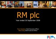 Preliminary - RM plc