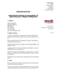 Udbudsmateriale, leasing af biler - Region Midtjylland