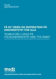 Læs mere om Folkeuniversitets kurser - Region Midtjylland