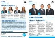 Martin Vollenwyder Urs Egger Andres Türler - FDP Stadt Zürich