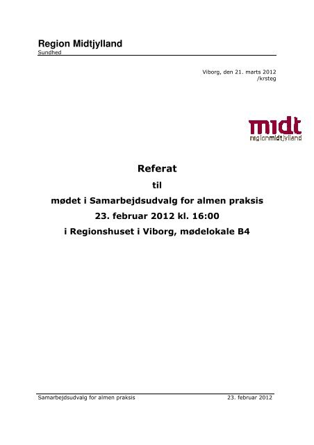 Region Midtjylland Referat