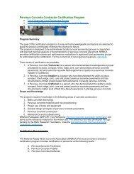 Pervious Concrete Contractor Certification Program