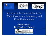 Monitoring Pervious Concrete for Water Quality - RMC Research ...