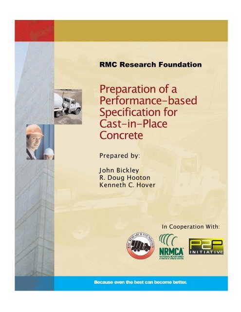Preparation of a Performance-based Specification for Cast-in-Place ...