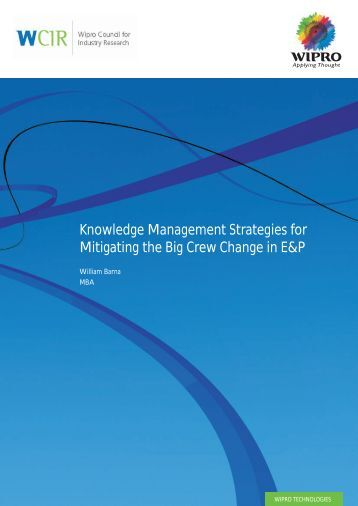 Knowledge Management Strategies for Mitigating the Big Crew - Wipro