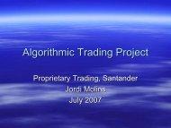 Algorithmic Trading Project - Rmetrics