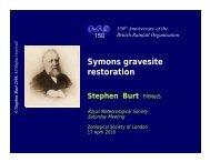 Stephen Burt - Royal Meteorological Society