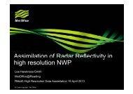 Assimilation of Radar Reflectivity in Assimilation of Radar ...