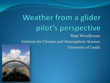 Weather from a glider pilot's perspective