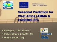Seasonal Prediction for West Africa (AMMA & ENSEMBLES)