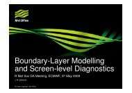 Boundary-Layer Modelling and Screen-level Diagnostics