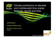 Climate predictions on decadal and multidecadal time scales ...