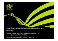 New Developments in Ground based remote sensing