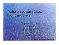 Turbulent ocean surface boundary layers Turbulent ocean surface ...