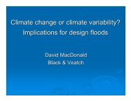 Climate change or climate variability? Implications for design floods