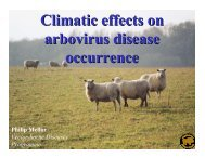 Climatic effects on arbovirus disease occurrence