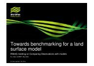 Towards benchmarking for a land surface model