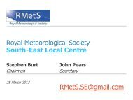 March 2012 - Royal Meteorological Society