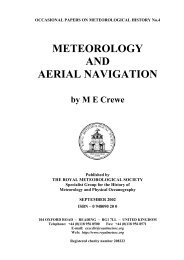 OCCASIONAL PAPERS ON METEOROLOGICAL HISTORY No