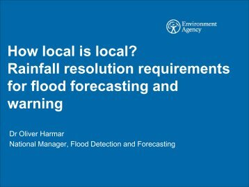 How local is local? Rainfall resolution requirements for flood ...
