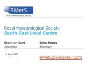 Wind and weather - Royal Meteorological Society