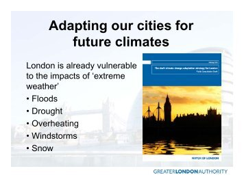 Adapting our cities for future climates