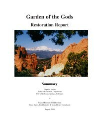 Recreation Inventory and Report - Rocky Mountain Field Institute