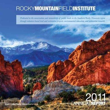 2011 Annual Report - Rocky Mountain Field Institute