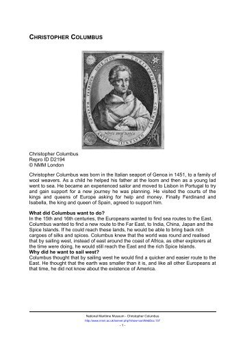 a response to christopher columbus letters The purpose of this edition is to make available for the first time, in a convenient format, two of the letters which columbus is known to have dispatched immediately upon his return from the first voyage to the new world in march 1493.