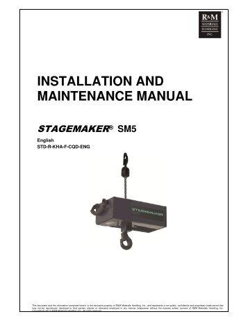 RM Series II Manual Chain Hoist Installation, Operation