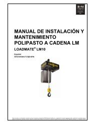 lm10 - r&m materials handling equipment � manual