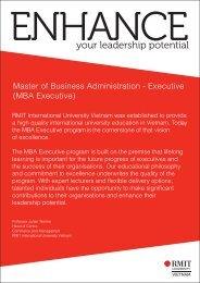 MBA Executive - RMIT University Vietnam