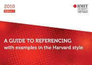A GUIDE TO REFERENCING with examples in the Harvard style