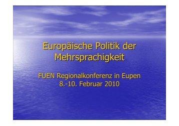 Europäische Politik der Mehrsprachigkeit Johann ... - rml2future