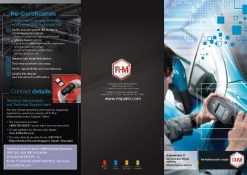 Service and repair option Maintenance advice - RM Paint