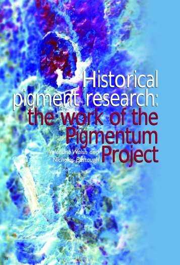 Historical pigment research - Royal Microscopical Society