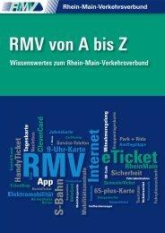 RMV von A bis Z (PDF, 755 KB) - RMV Rhein-Main-Verkehrsverbund
