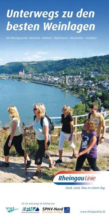 Die RheingauLinie - unterwegs zu den besten Weinlagen ... - RMV